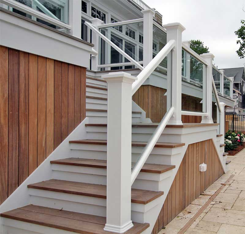 Outdoor Wood Railings For Stairs - Home Design Ideas and Pictures